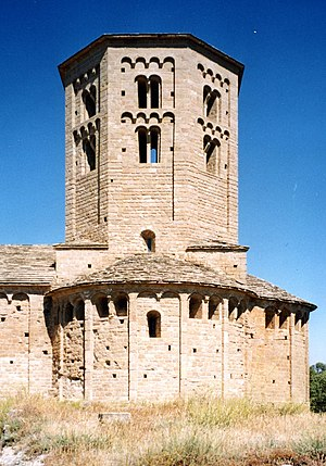 Ponts, Lleida - Romanesque art in Sant Pere Church in Ponts