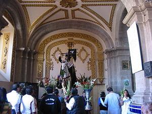 Chalco de Díaz Covarrubias - Santiago Apostol Statue, patron saint of the town, it is displayed inside the main church.