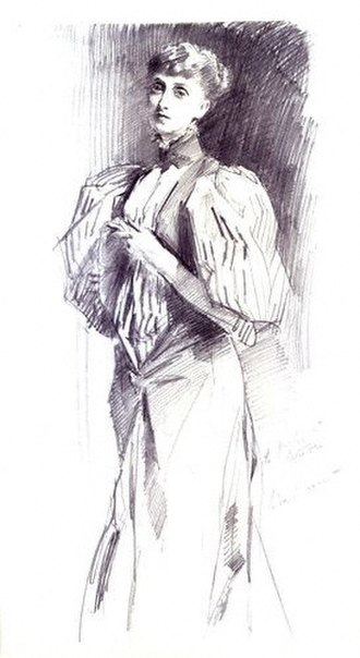 Alice Meynell - Meynell by John Singer Sargent, pencil, 1894