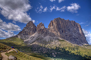 The Bear (1988 film) - Saslonch, a mountain in the Dolomites in South Tyrol, Italy