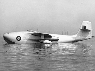 Saunders-Roe SR.A/1 - TG263 on the water