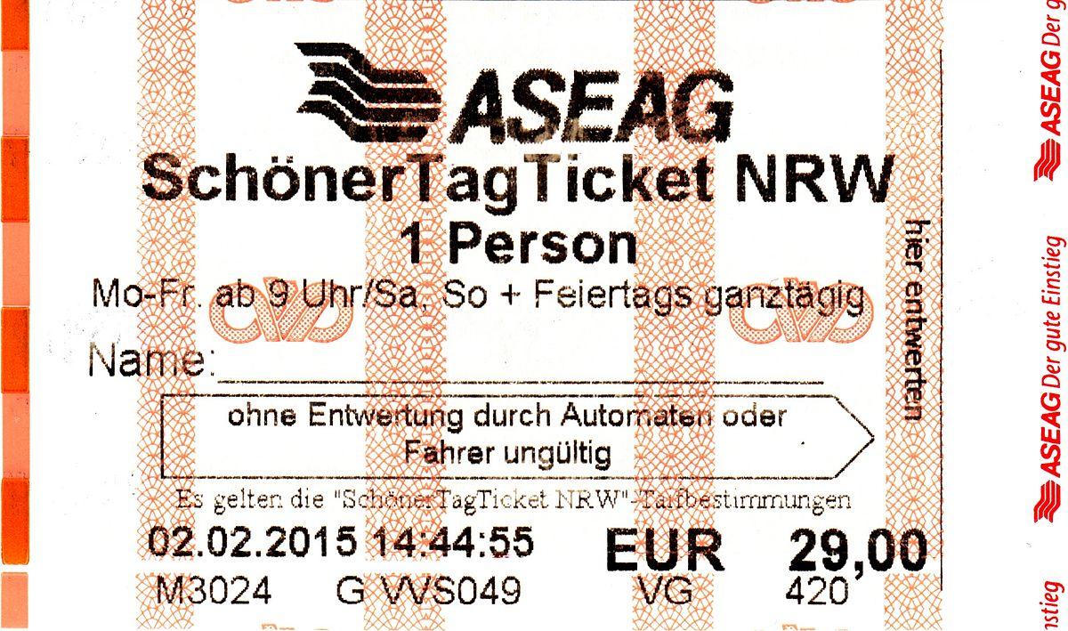 Nrw Schöner Tag Ticket Single