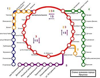 Схема трамваев коломны