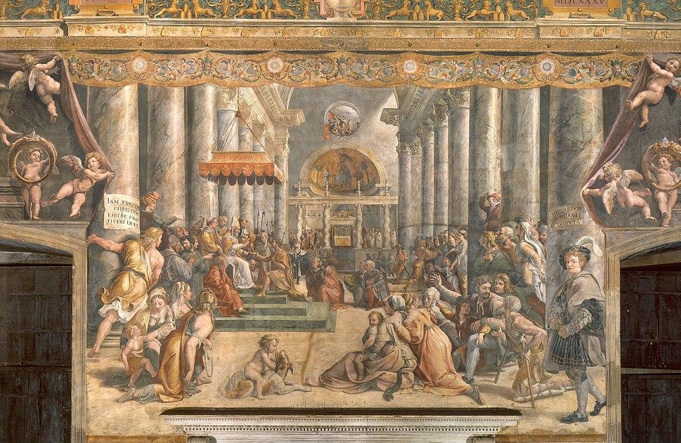 School of Raphael - Donation of Rome