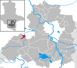 Location within the Saalekreis Dstrict