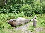 Sculpture of fighter aircraft at Joyden's Wood.jpg