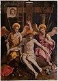 Scuola toscana, Cristo in pietà tra due angeli e i simboli della passione, xvi secolo 012.jpg