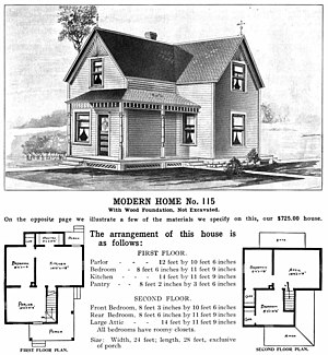 Home - Plans for a detached house showing the social functions for each room