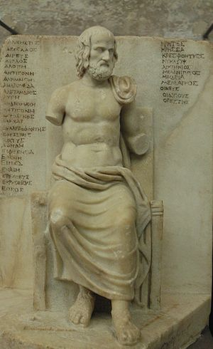 Statuette of Euripides, identified by an inscr...