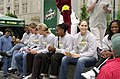 Seattle Storm players at Westlake Center, 2002.jpg
