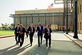Secretary of State John Kerry walks with his staff across the U.S. Embassy Compound (26282116076).jpg