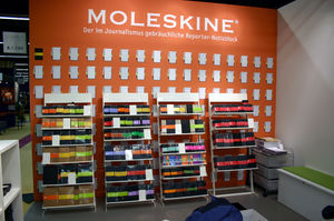 A selection of Moleskine notebooks.