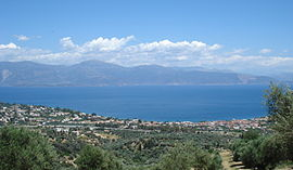 Panoramic view of Selianitika and Longos