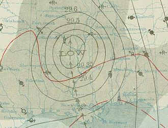 1909 Atlantic hurricane season - Image: September 21, 1909 Hurricane 8 weather map