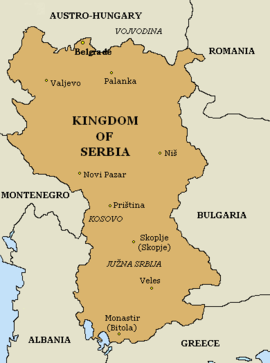 Kingdom Of Serbia Wikipedia - Serbia maps with countries