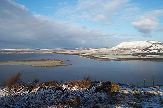 St Serf's Inch - St Serf's Inch and Loch Leven in winter, from Vane Farm on Benarty Hill