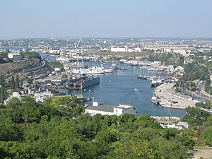 Sevastopol Shipyard - View of the Sevastopol port