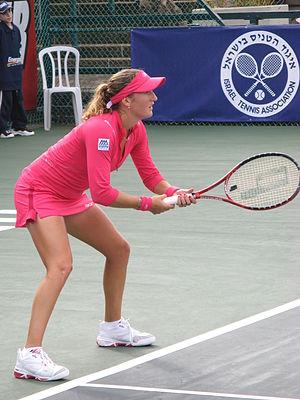 Sport in Israel - Shahar Pe'er, winner of Israeli tennis championship, 2008