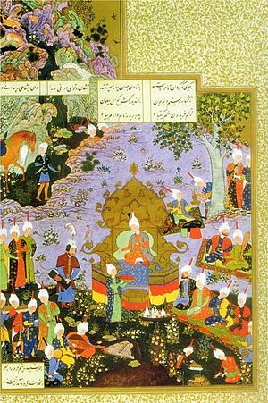 Persian literature - A scene from the Shahnameh describing the valour of Rustam
