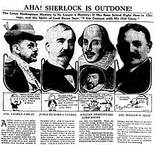 "A page from a 1916 newspaper with headline ""Aha! Sherlock is outdone!"""