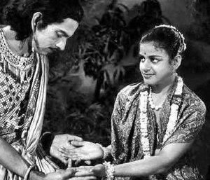 Sakuntalai - G. N. Balasubramaniam and M. S. Subbulakshmi in Sakuntalai