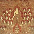 Shakyamuni and the Eight Great Bodhisattvas, Korea, Chosôn Dynasty, 16th Cent., ink, color & gold on silk.jpg
