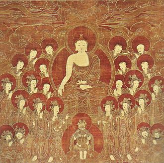 Honolulu Museum of Art - Gautama Buddha and the Eight Great Bodhisattvas, Korea, Joseon Dynasty, 16th century