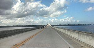 Shands Bridge - Westbound on the Shands Bridge (2016)