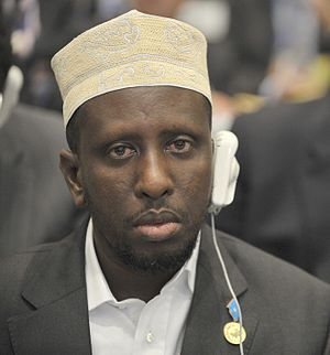 President of Somalia - Image: Sharif Sheikh Ahmed, 12th AU Summit, 090202 N 0506A 337 2