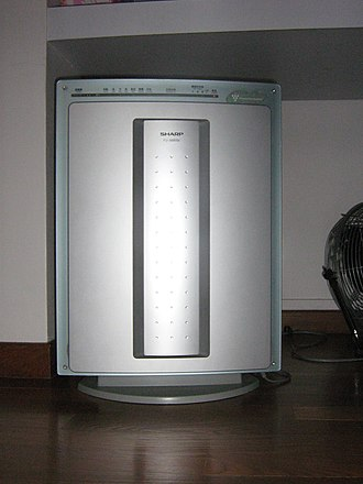 Air purifier - A Sharp FU-888SV Plasmacluster air purifier.