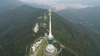 Wutong Mountain - Image: Shenzhen TV Tower viewed from the air