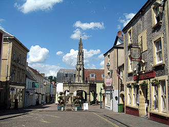 Shepton Mallet - The historic marketplace, with the Market Cross