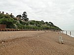 Shingle beach at Bawdsey with the Manor on the left-geograph-4182792.jpg