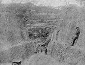 Katanga Province - Mine de Shinkolobwe. The uranium for the Manhattan Project and the Atomic bombing of Hiroshima and Nagasaki came from Shinkolobwe mine.