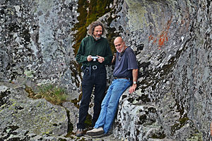 Robert Bauval - Robert Bauval (right) and Robert Schoch at the prehistoric cult centre of Belintash (Bulgaria) in 2014.