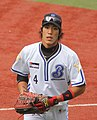 Shou Aranami, outfielder of the Yokohama BayStars, at Yokohama Stadium.jpg