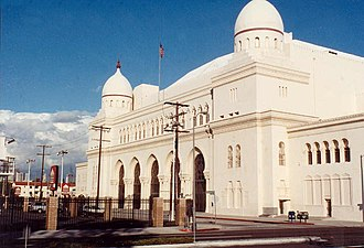 Shrine Auditorium - The Shrine Auditorium in 1990, before the 2002 renovations.