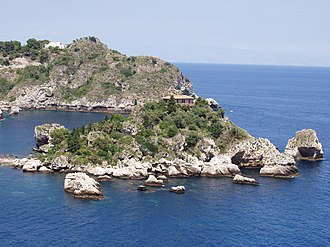 Isola Bella (Sicily) - South side of Isola Bella.