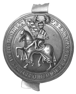 Bernhard II, Prince of Anhalt-Bernburg - Bernhard II's Seal