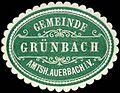 Siegelmarke Gemeinde Grünbach - Amtshauptmannschaft Auerbach im Vogtland W0253792.jpg