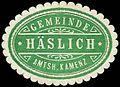 Siegelmarke Gemeinde Häslich - Amtshauptmannschaft Kamenz W0252666.jpg