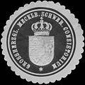 Siegelmarke Grossherzogl. Mecklenburg Schwer. Consistorium W0343878.jpg