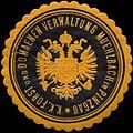 Siegelmarke K.K. Forst- und Domaenen-Verwaltung Muehlbach in Pinzgau W0317023.jpg