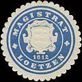 Siegelmarke Magistrat Loetzen-Ostpreußen W0349329.jpg