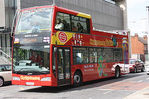Optare Visionaire - City Sightseeing Dublin Optare Visionaire bodied Volvo B9TL in Dublin in May 2011