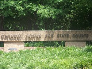 National Center for State Courts - National Center for State Courts (NCSC) sign at Williamsburg, VA headquarters