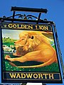 Sign for the Golden Lion, Winnall, Winchester - geograph.org.uk - 685114.jpg