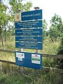 Sign listing what is on offer at Wykeham Lakes in Charm Park - geograph.org.uk - 206176.jpg