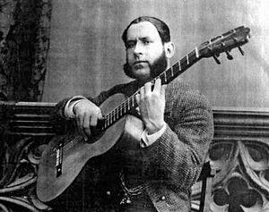 Silverio Franconetti - Silverio Franconetti with a guitar.