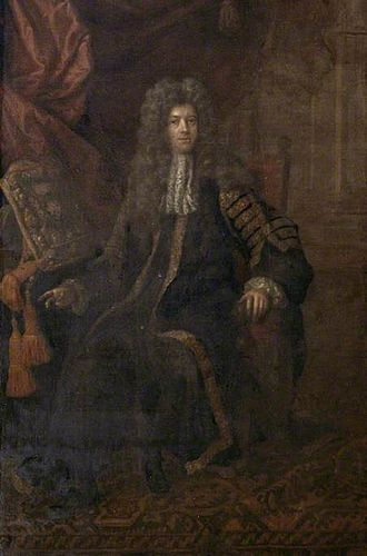 John Somers, 1st Baron Somers - A painting of John Somers by Simon Du Bois
